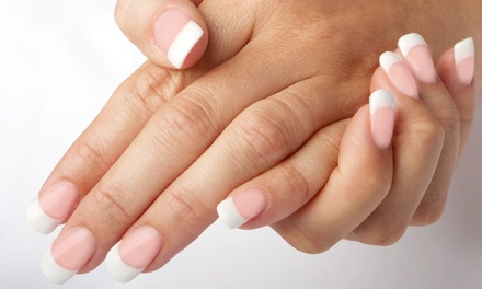 Set of Clear or Pink-and-White Acrylics, Mani-Pedi, or Color Gel Set at Grand Design Nail Salon (Up to 49% Off)