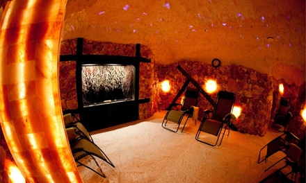 One or Three 50Minute SaltCave Sessions, Spa Package, or Healing with Hands at Saltcave Solana (Up to 53% Off)