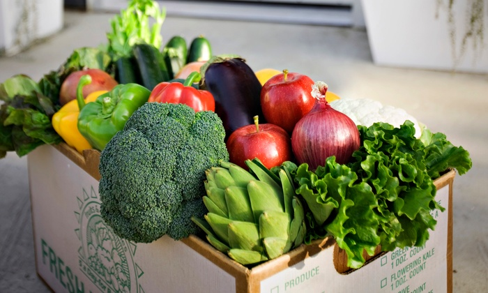 Doorstep Farmers - San Francisco: $23 for Two Boxes of Delivered Boxes of Produce (8 - 10 lbs.) from Doorstep Farmers ($46 Value)