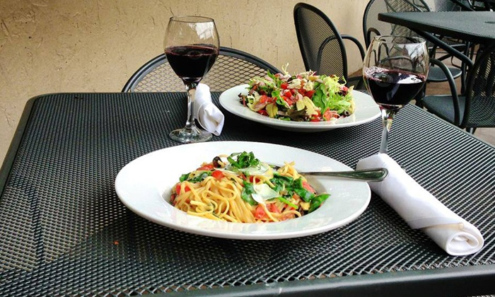 Serafina's Italian Bar and Grille - Holland: Three-Course Dinner for Two or Four with Wine at Serafina's Italian Bar and Grille (Up to 44% Off)