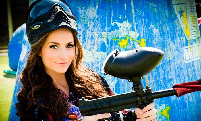 Paintball International - Multiple Locations: All-Day Paintball Package with Equipment Rental for 4, 6, or 12 at Paintball International (Up to 85% Off)