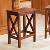 Casselberry Brown Mahogany Finish Counter Stools (Set of 2)