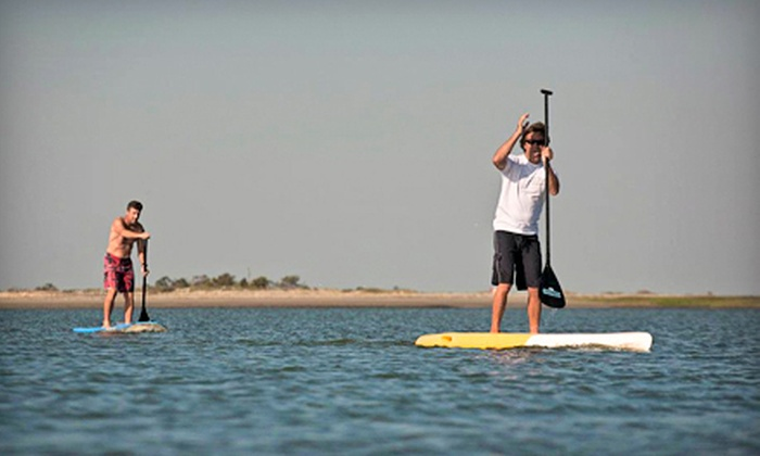 AOK Watersports - Tybee Island: Paddleboard Rental from AOK Watersports in Tybee Island (Half Off). Three Options Available.