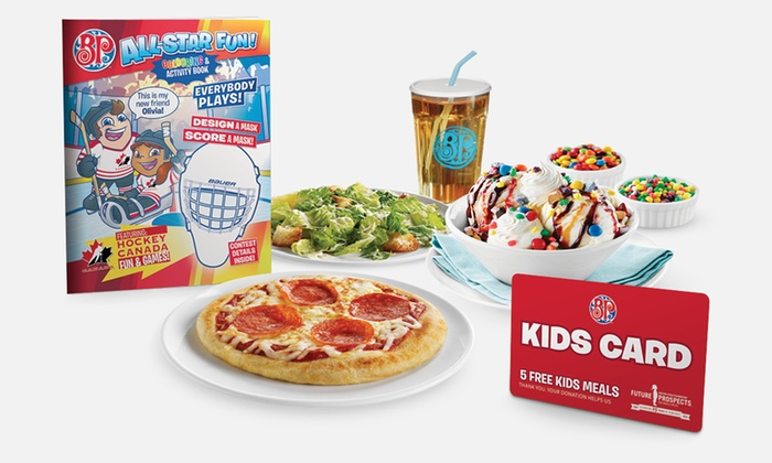 Boston Pizza - Winnipeg: $5 for a Kids Card, Good for Five Kids Meals at Boston Pizza ($35 Value)