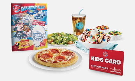 $5 for a Kids Card, Good for Five Kids Meals at Boston Pizza ($35 Value)