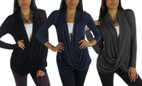 GROUPON: Free to Live Women's Crisscross Cardigans (3-Pack) Free to Live Women's Crisscross Cardigans (3-Pack)