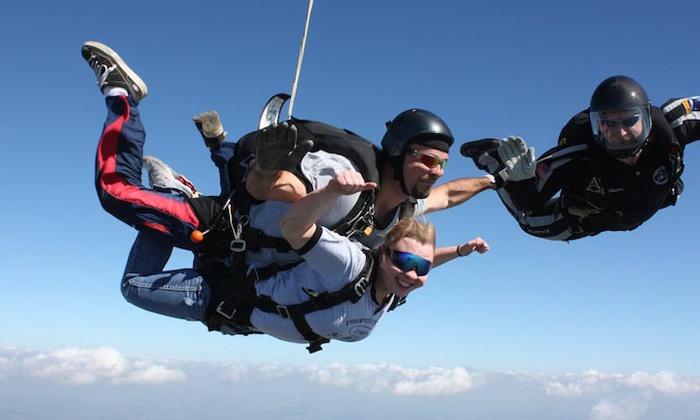 Ozarks Skydive Center - Ozark Skydive Center: $159 for a Tandem Skydive and a Souvenir T-Shirt at Ozarks Skydive Center for 2016 ($229 Value)