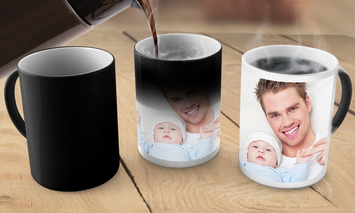 Custom Photo Mugs or Magic Mugs from Printerpix