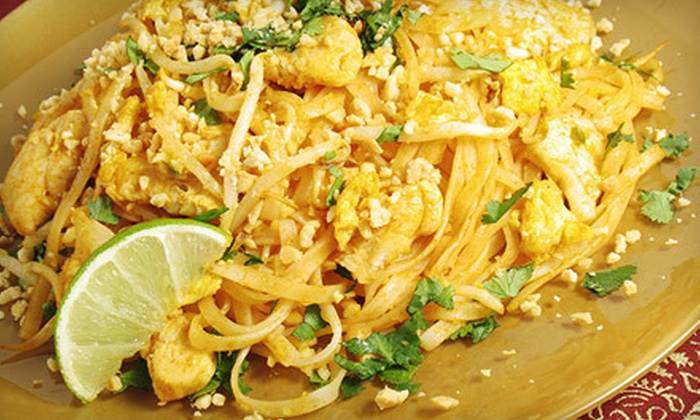 Siam Patio Thai Cuisine - Fair Oaks: Thai Lunch for Two, Dinner with Drinks for Two, or Carry-Out Dinner for Four at Siam Patio Thai Cuisine (Up to 56% Off)