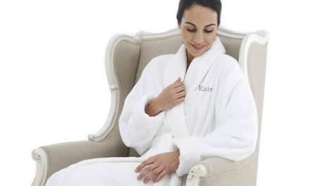Personalised Bath Robe with a Coral Fleece Shawl Collar from R499 with The Gift Factory (Up to 35% Off)