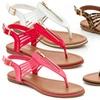 Rasolli Women's Thong Sandals with Front Zipper