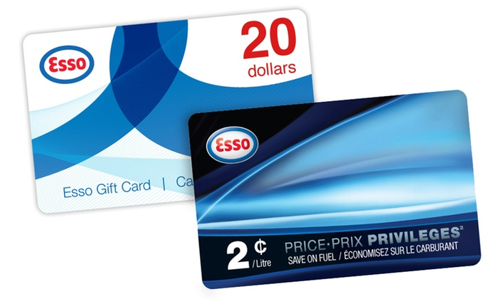 Esso: $22.99 for One $20 Esso Gift Card and One PRICE PRIVILEGES Fuel Savings Card from Esso (Up to $30)