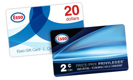 $22.99 for One $20 Esso Gift Card and One PRICE PRIVILEGES Fuel Savings Card from Esso (Up to $30)