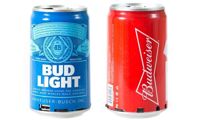 Budweiser Or Bud Light Bluetooth Wireless Can Speaker