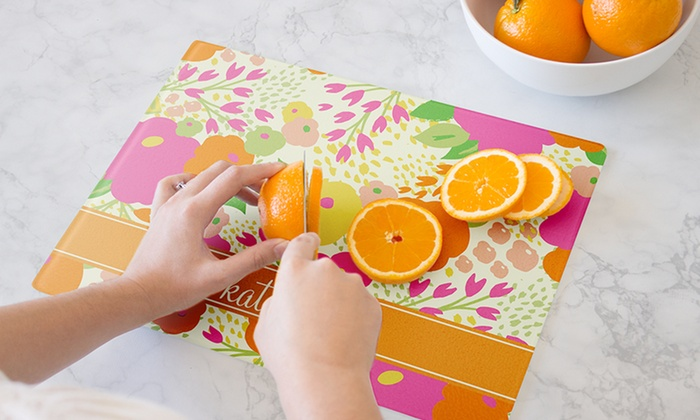Small or Large Personalized Cutting Boards from Clairebella (Up to 60% Off). Five Options Available.