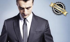 Masswerk: 2-teiliger Maßanzug aus reiner Schurwolle, optional mit Maßhemd und Krawatte, von Maßwerk ab 349 € (bis zu 61% sparen*)