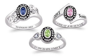 67% Off Personalized Women's Class Ring at Limogés Jewelry