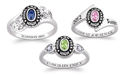 $59 for a Personalized Women's Class Ring from Limogés Jewelry ($179.99 Value)