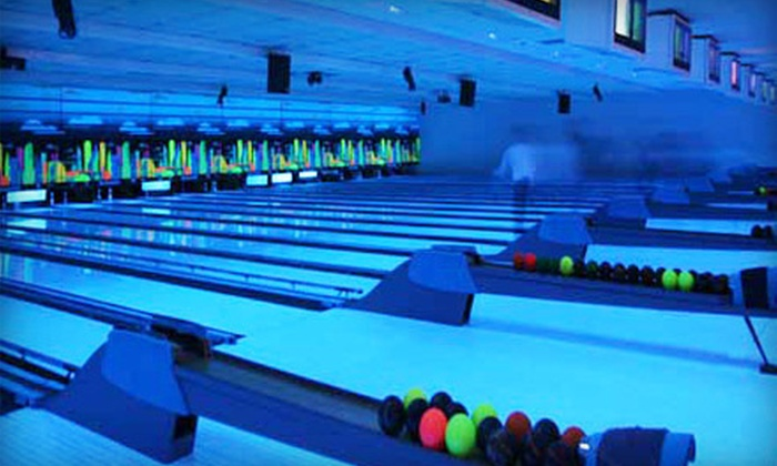 Dickson Bowl - Downtown Cambridge: $30 for Cosmic Bowling for Up to Six with Pizza and Pop at Dickson Bowl (Up to $90.88 Value)