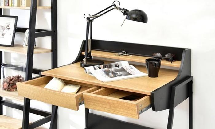 Bureau métal noir tiroirs styan design sur sofactory