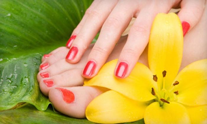 Nail ViVi - Ala Moana - Kakaako: One or Three Mani-Pedis or Calgel Soak-Off Gel Treatments at Nail ViVi (Up to 63% Off)