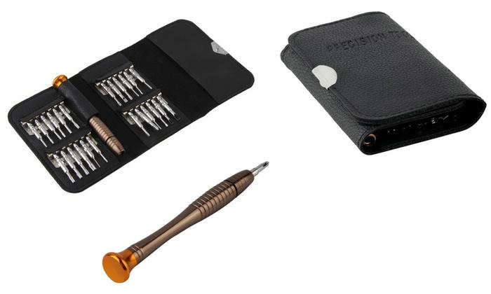 trend matters torx mini screwdriver set 25 piece groupon. Black Bedroom Furniture Sets. Home Design Ideas