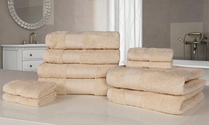 Groupon Goods Global GmbH: 10 Piece Towels Set In Choice Of Colour For ... Part 78
