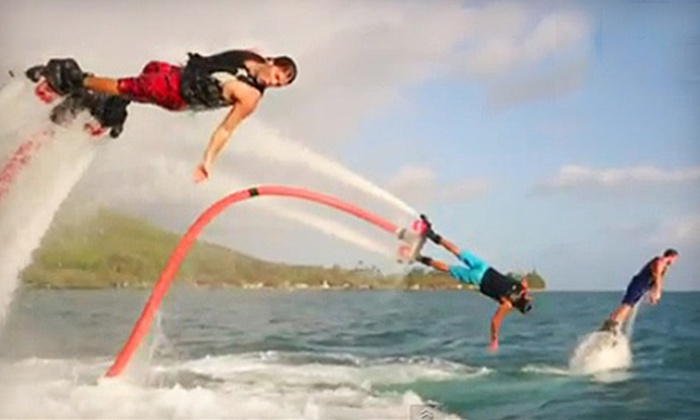 Jump Right In Flyboarding - Multiple Locations: 30-Minute Flyboarding Session for One or Two Jump Right In Flyboarding (Up to 55% Off). Two Locations Available.