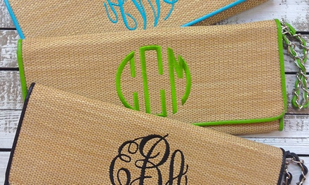 One Custom Monogrammed Ball Cap or Clutch from Embellish Accessories and Gifts (Up to 56% Off)