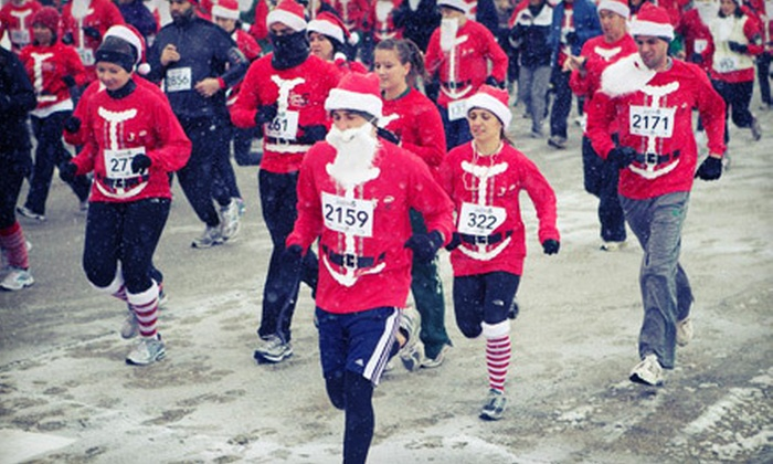Adrenaline Sports Management - Sandusky: Entry in Santa Hustle 5K or Half Marathon on Sunday, December 16 from Adrenaline Sports Management (Up to 51% Off)