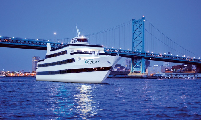 "Spirit of Philly - Penn's Landing: Three-Hour Dinner Cruise Aboard ""Spirit of Philadelphia"" on a Weekday or Weekend (Up to 40% Off)"