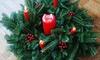 Fresh Fraser Fir Holiday Centerpiece with Berries: Fresh Fraser Fir Holiday Centerpiece with Berries