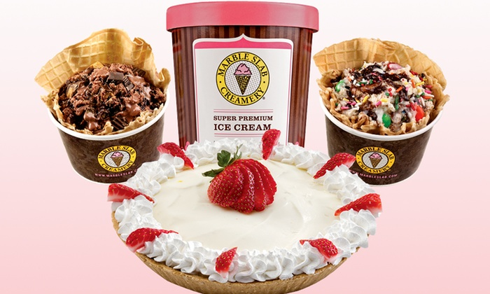 Marble Slab Creamery - Gulfport - Crossroads Shopping Center: Ice Cream or 8-Inch Ice-Cream Cake at Marble Slab Creamery (Up to 50% Off)