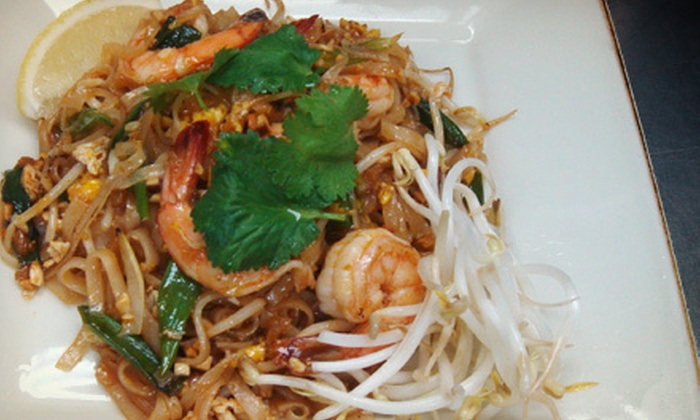 Nine Thai Cuisine - Chatham: $29 for Thai Dinner for Two with Entrees, Appetizers, Soups, and Thai Iced Tea at Nine Thai Cuisine (Up to $70.70 Value)