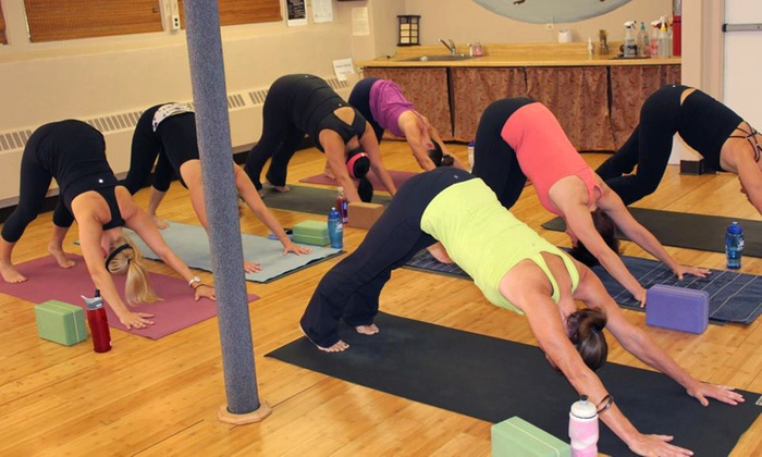 bCalm Power Yoga - Hopkinton: $69 for 10 Heated Power Vinyasa Yoga, Pilates, Barre, and Restorative Yoga at bCalm Power Yoga ($150 Value)
