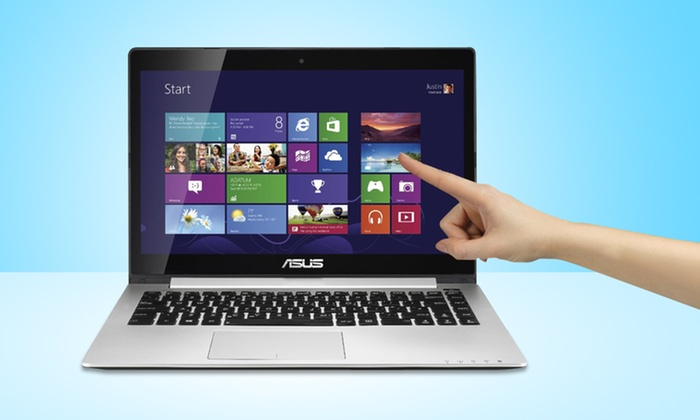 """ASUS 14"""" Ultrabook Touchscreen Laptops: ASUS S400CA 14"""" Touchscreen Laptop (Manufacturer Refurbished) (Up to 25% Off). Multiple Models. Free Shipping & Returns."""