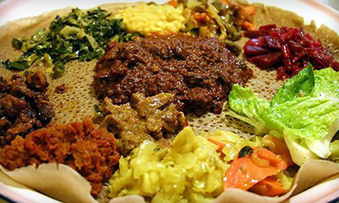 Queen of Sheba - Clinton: Ethiopian Dinner and Drinks for Two, Valid Sunday–Thursday or Friday–Saturday at Queen of Sheba (Up to 53% Off)