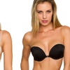 2-Pack of Microfiber Push-Up Balconette Convertible Bra (Size 36D)