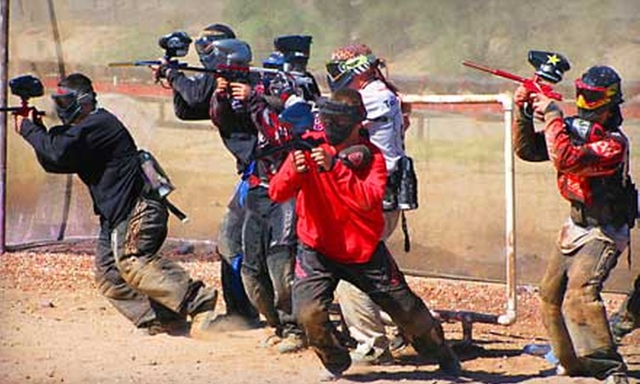 Disruptive Paintball - Marana: Paintball Package with Gear Rental and 250 Paintballs Each for One, Two, or Four at Disruptive Paintball (Up to 60% Off)