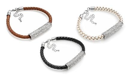Uma, duas ou três pulseiras Leather & Crystal Duo desde 12,99€