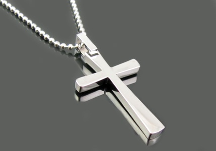 Blackjack Men's Cross Pendant in Stainless Steel