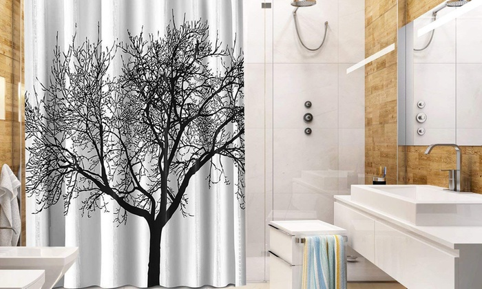 Up To 75 Off On Shower Curtain With Tree Design