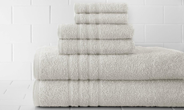 Spa Collection 6-Piece Egyptian-Cotton Towel Sets: Spa Collection 6-Piece 100% Egyptian-Cotton Towel Sets