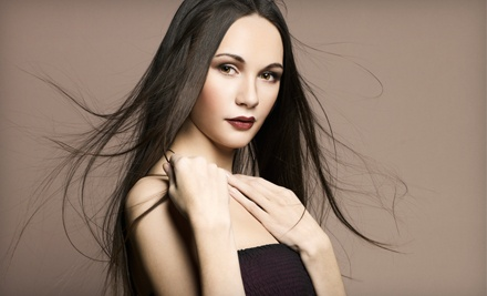 Keratin Straightening Treatment with Optional Haircut at The Villa Day Spa & Salon (Up to $255 Value)