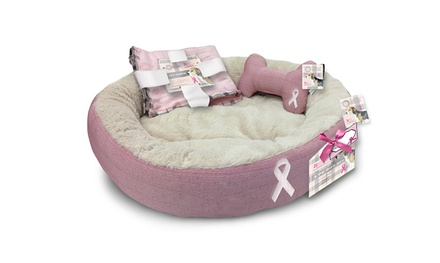 National Breast Cancer Awareness Month Pet-Bed Set (3pc.)