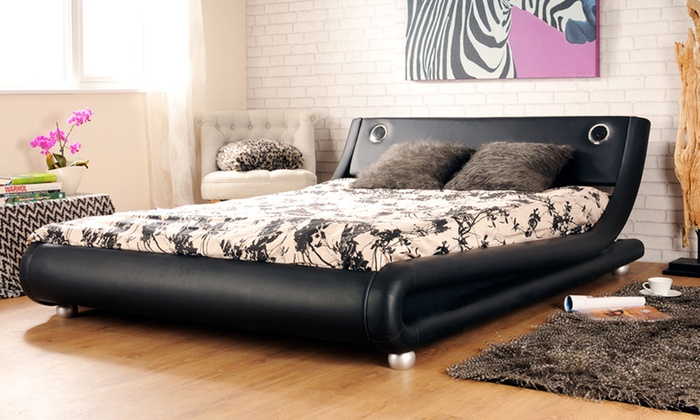Bed With Bluetooth Speakers | Groupon Goods