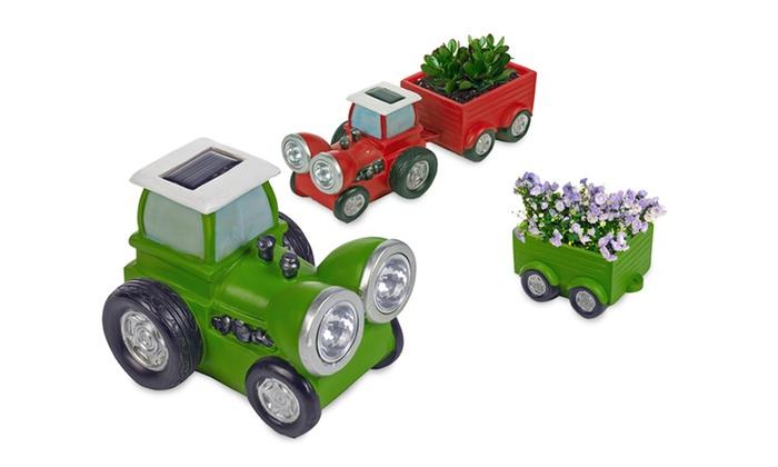 Tractor Garden Solar Lights : Solar powered garden ornaments groupon goods