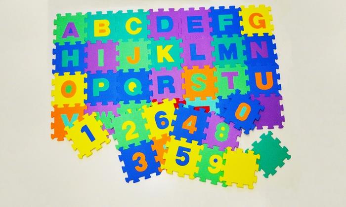 b54c7020c6 Tappeto puzzle lettere e numeri | Groupon Goods