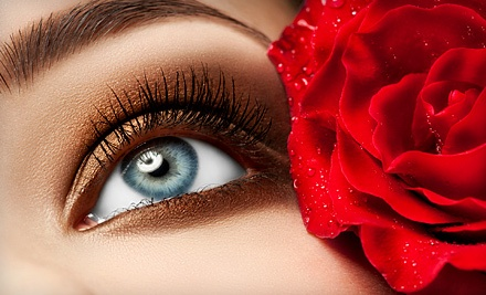 Full Set of Eyelash Extensions with Option for Touchup at Paradise Nails & Spa (Up to 63% Off)