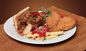 Brown's Chicken: $13 for $20 Worth of Chicken, Chicago-Style Sandwiches, and Pasta at Brown's Chicken